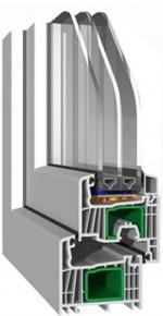profil pvc cu 7 camere-streamline 76