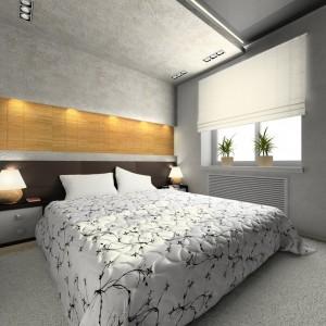 dormitor umbrit cu roman shade